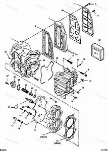 Mercury Force Outboard Parts By Hp  U0026 Serial 50hp Oem Parts Diagram For Cylinder Block  Head And