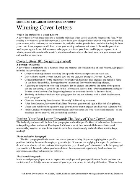 Writing A Winning Cover Letter by Writing A Winning Cover Letter For A Composing A
