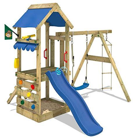 schaukel und rutsche wickey spielturm freshflyer kletterturm mit sandkasten kletterwand strickleiter schaukel und