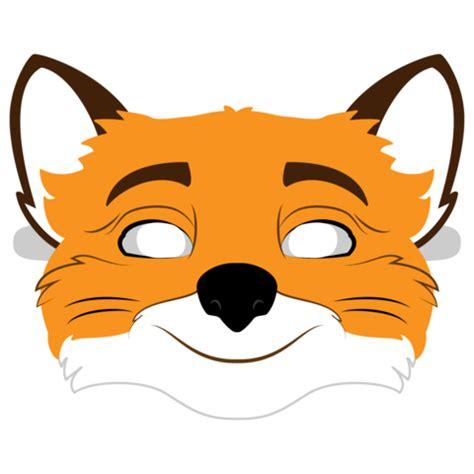 fantastic  fox mask template  printable