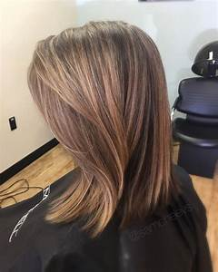 Partial foil for brown hair // blonde honey caramel ...