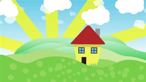 Animated Sunny Day Stock Footage Video