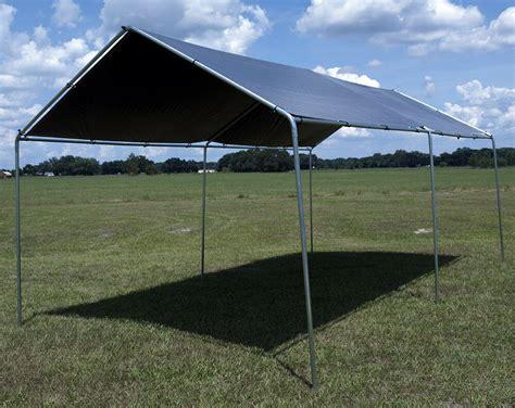 heavy duty canopy kit set car boat carport garage tent shelter silver ebay