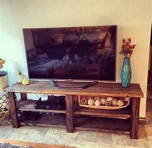 6ft rustic barn style tv stand sofa table entrance With barn style tv console