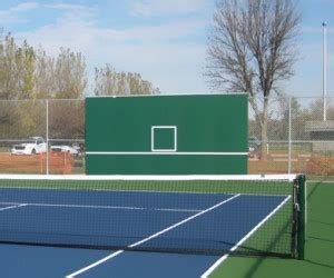 tennis court equipment  tennis backboard hitting walls southern minnesota inspection