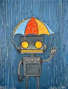 121 best ☮ Art ~ Retro Robot images on Pinterest