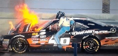 Insane Nascar Xfinity Season Finale Crash Sends Car Up In
