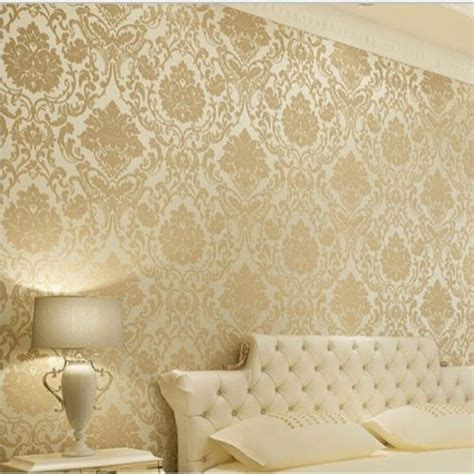 damask wallpaper gold cream gallery
