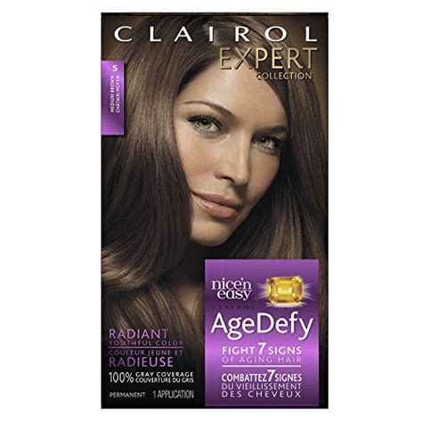 clairol age defy hair color clairol age defy expert collection 5 medium brown