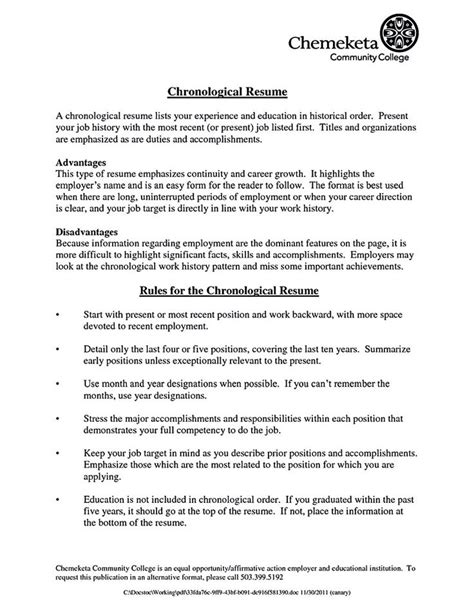 Chronological Resume Use by Best 25 Chronological Resume Template Ideas On