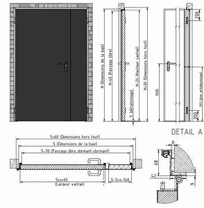 porte coupe feu 1 2 h industrimat fermetures With porte coupe feu standard