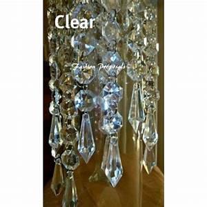 Sale hanging crystals acrylic chandelier prism
