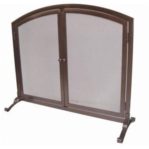 home depot fireplace doors home decorators collection emberly brown 1 panel fireplace