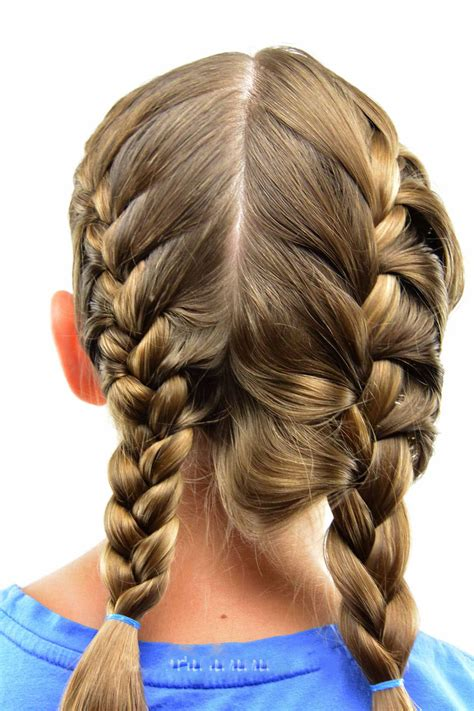 french braids  girls   hairstyles