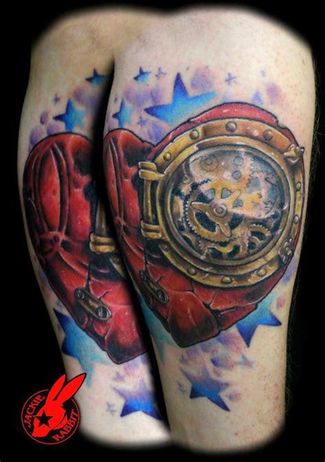 steampunk broken heart tattoo  jackie rabbit