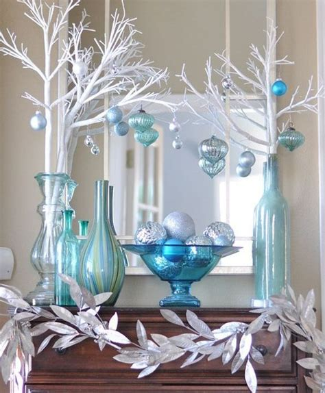 blue and silver christmas decoration ideas 35 frosty blue and white christmas d 233 cor ideas digsdigs