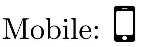 smartphone symbol for pdflatex tex stack exchange