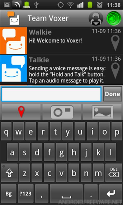 voxer for android voxer walkie talkie ptt free app android freeware