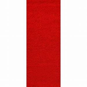 Tapis Shaggy Rouge : tapis de couloir shaggy rouge 60x180 cm 40 mm achat ~ Teatrodelosmanantiales.com Idées de Décoration