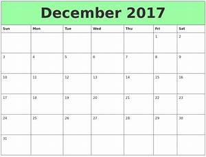 December 2017 Printable Calendar Template, Holidays, Excel ...