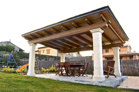porches  el jardin vigas columnas materiales
