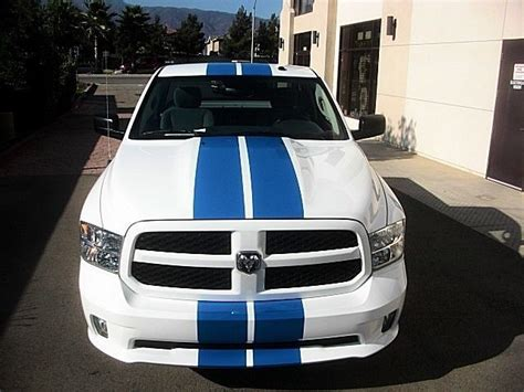 dodge ram  truck mopar  racing stripes decals trunk