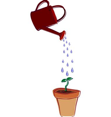 watering can with water coming out clip watering container clipart