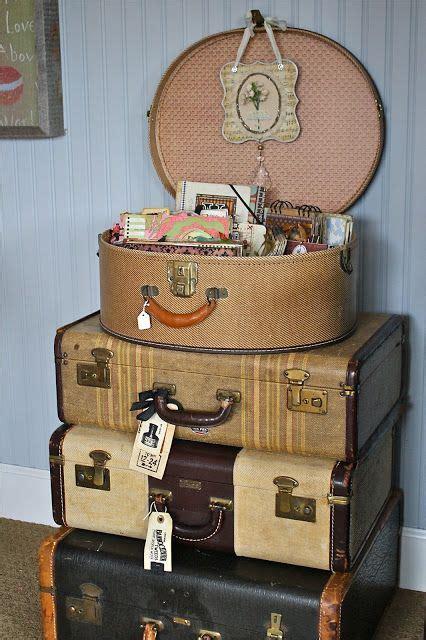 decorating  vintage suitcases suitcases vintage