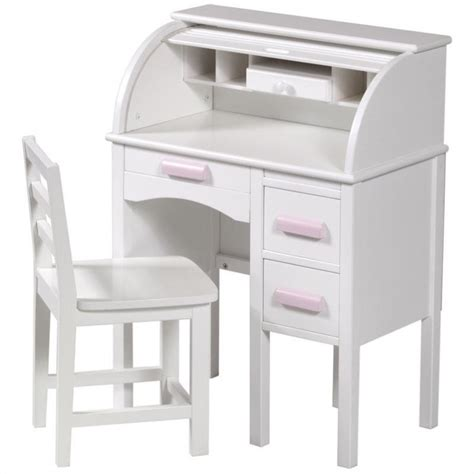 white desk with wood top guidecraft jr roll top wood desk in white g97301