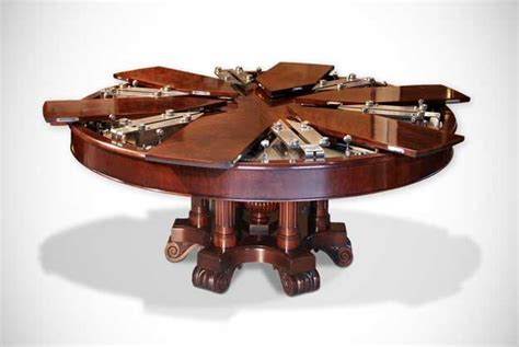 The Great Expanding Round Dining Table   HomesFeed