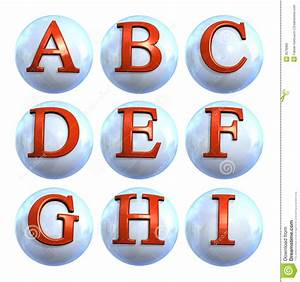 icon ball letters stock photos image 3678383 With letter ball