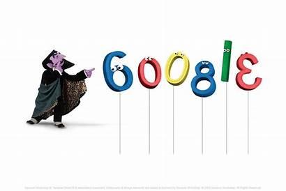 Count Von Sesame Street Google Anniversary 40th