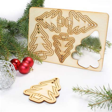 15 laser cut christmas tree decorations by cleancut wood