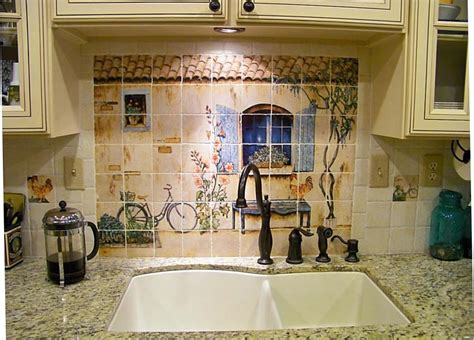 Country Kitchen Tile Backsplash : French Country Kitchen Backsplash