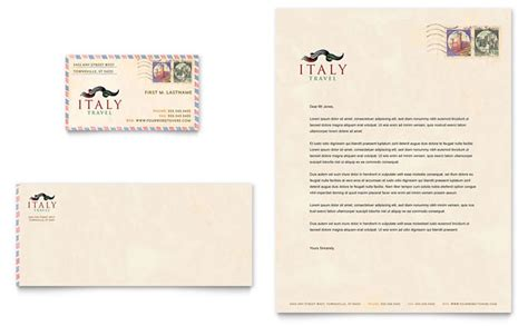 travel template video editing italy travel business card letterhead template design