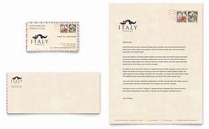 restaurant letterhead templates free - italy travel business card letterhead template design