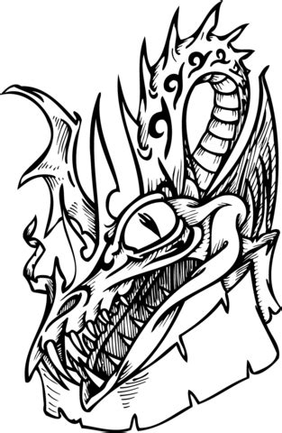 dangerous dragon coloring page  printable coloring pages