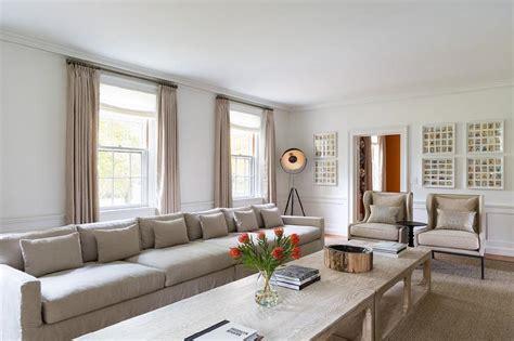 extra long sofa eclectic living room chango