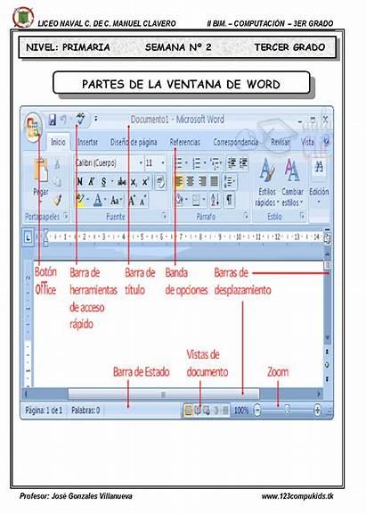 Word Sus Partes Ventana