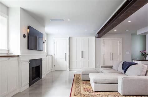 modern farmhouse basement model remodel