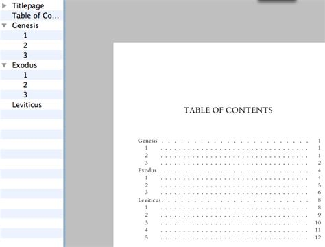 table of contents hide bmx bookmarks hide section in table of contents but show it