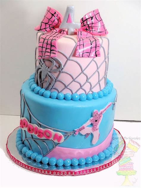 girly spiderman cake kids birthday party s pinterest cakes and dr who