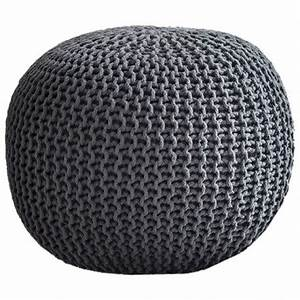 Pouf Gris Anthracite : cocon xxl pouf rond g ant tress gris anthracite 65x45 kolorados ~ Teatrodelosmanantiales.com Idées de Décoration