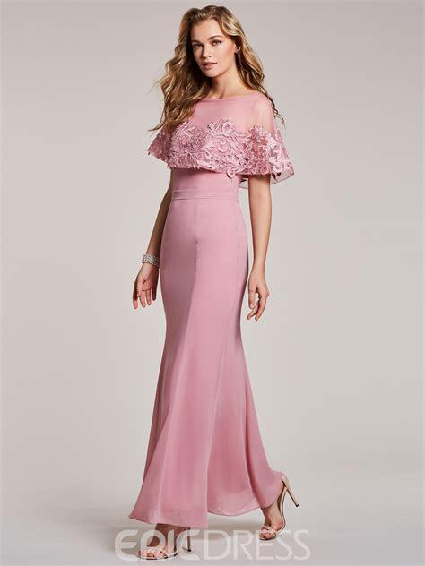 Ericdress Bateau Neck Lace Appliques Mermaid Evening Dress ...