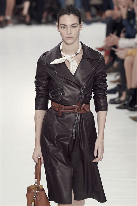 vittoria ceretti attends tods show leather celebrities