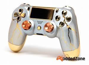Elite Design Glasses Quot Gold Thunder Quot Ps4 Modded Controller Moddedzone