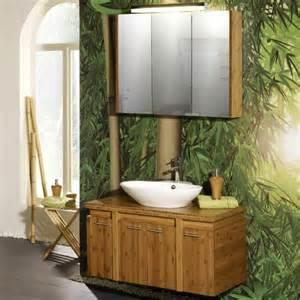 badezimmer waschplatz badezimmer 2 tlg bambus massiv lack badmöbel waschplatz spiegelschrank gäste wc ebay