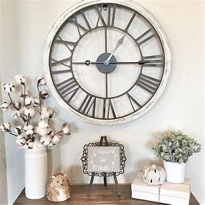 best 25 wall clock decor ideas on pinterest With kitchen cabinets lowes with wall art with clock