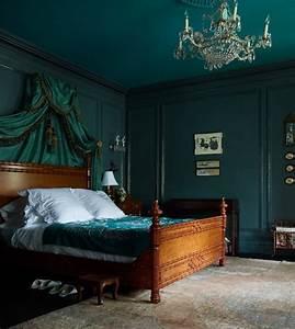 deco chambre vert canard With tapis oriental avec canapé lit chambre