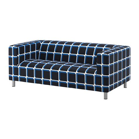 klippan two seat sofa alvared black blue ikea